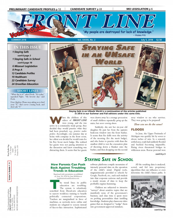 Front Line Page One 2018 Summer